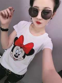 PO Large Size Gem Studded Cartoon Characters Tee