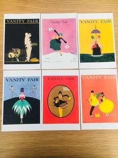 Vanity fair postcards Art Deco vintage style
