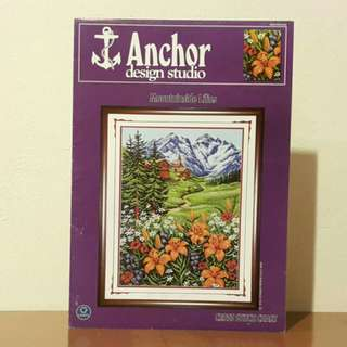 Vintage Anchor Cross Stitch Leaflet - Mountainside Lilies