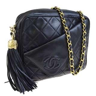CHANEL Vintage Quilted Chain Shoulder Bag