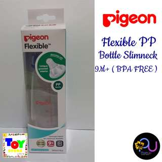 Pigeon Flexible PP Bottle Slimneck 9M+ (BPA BPS FREE) Blue