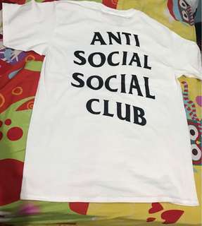 Anti social social club assc white putih t shirt kaos
