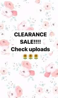 CLEARANCE SALE!!!