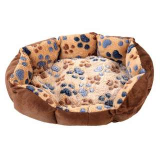 Pet Bed Paw Print Soft Cushion
