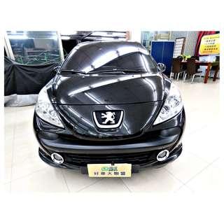 『上嘉汽車』2007年 寶獅-207 1.6黑-恆溫空調,大型貓眼式頭燈
