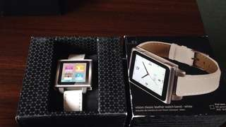HEX VISION Leather Watch Band iPod Nano 0519 NEW 全新表带