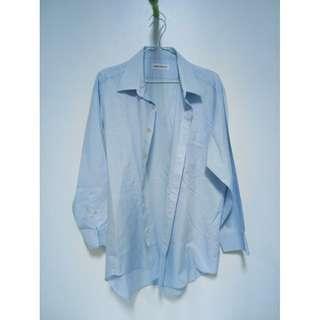 RARE METAL - Blue Striped Long Sleeves Polo
