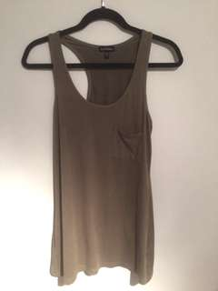 Olive/Army green Suede Tank