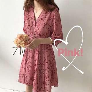 Sheryl Pink Floral Dress