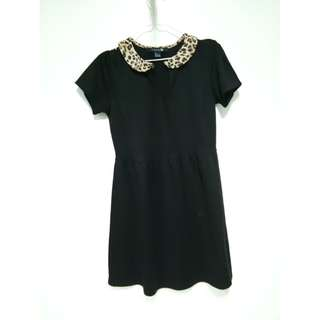 FOREVER21 Black Collared Dress