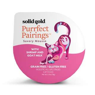 SOLID GOLD  PURRFECT PAIRINGS MOUSSE - SHRIMP & GOAT MILK (Case of 18)