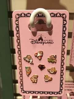 代購 香港迪士尼樂園 Hong Kong Disneyland  The Seven Dwarfs 七個小矮人 耳環 earrings