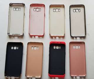 Lot of 8 Samsung S8 Cases New and Preowned