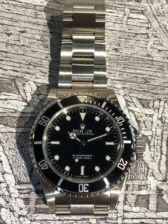 Rolex-14060-A頭!錶一隻!