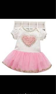 Baby girl tutu dress romper infant newborn toddler