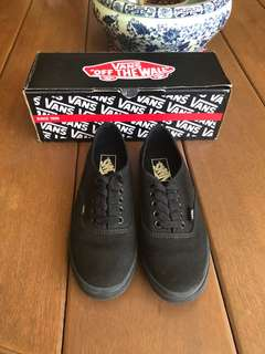 Lo pro black Vans (Auth, size 7 used TWICE only)