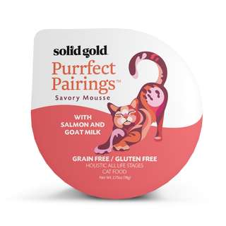 SOLID GOLD  PURRFECT PAIRINGS MOUSSE - SALMON & GOAT MILK (Case of 18)