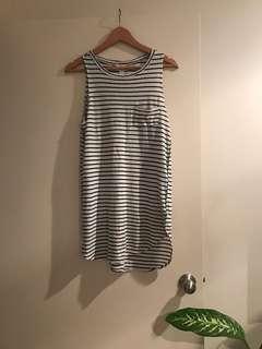 AMUSE LABEL stripe dress