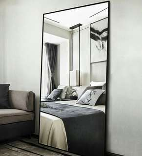 65*170 Full length mirror dressing mirror modern black