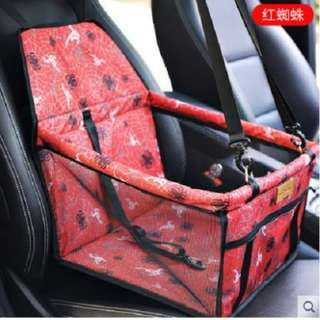 Portable Foldable Car Seat Cover Carrier with Seat Belt for Dog Cat