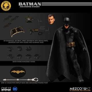 Mezco one 12 batman day limited 1939 batman ascending knight 蝙蝠俠 黑金