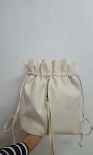 Leather String Bag
