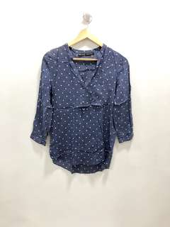 Zara Dotted Blouse - Preloved, Excellent Condition