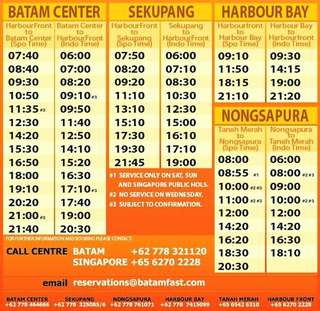 Batam Ferry Ticket Nongsapura/Harbourbay/Batam Centre/Sekupang All Passport