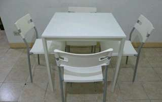 4 Seaters IKEA TABLE AND CHAIRS