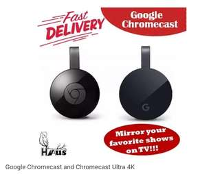 Google Chromecast and Chromecast Ultra 4K