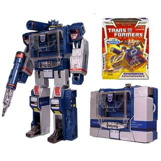 "Transformers Commemorative Edition Soundwave Toy's ""R"" Us Exclusive Prime Decepticon RID"