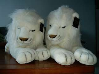 Stuffed Lions from MGM 1 pair pure white