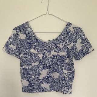 American Apparel Printed Crop top