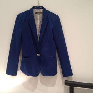 Zara Blue Blazer Size Small