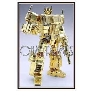 🚚 KO Transformers Masterpiece MP-10 MP10 MP-10G MP10G - Gold Optimus Prime (Golden Lagoon)