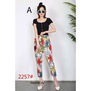 NEW ARRIVAL...PRINTED PANTS, TROUSERS, ANKLE FLORAL PANTS
