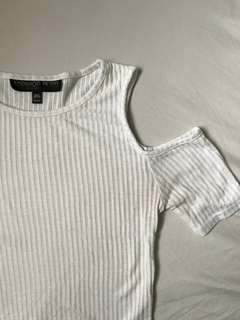 Topshop Cold Shoulder Top - Size 4 US