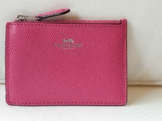COACH Keychain Case Bright Pink