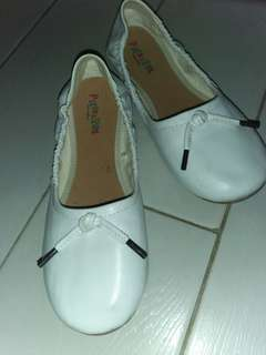 Pitter Pat White Shoes (Flat)