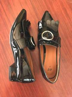 Brand New H&M Black Patent Office Shoes