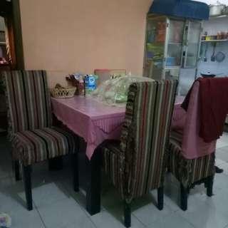 meja makan kursi 4