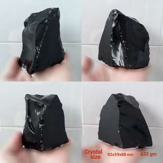 Natural Black Obsidian rough. Display speciment.