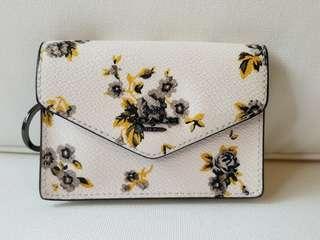 COACH Envelope Card Holder Floral Print