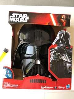 🚚 STAR WARS DARTH VADER 星際大戰 黑武士 會說話的頭盔 迪士尼原版