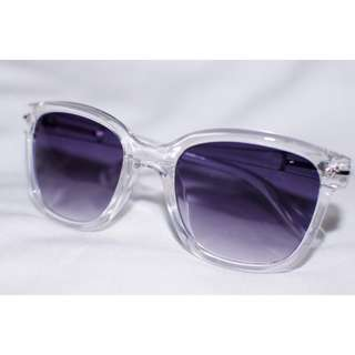 Wayfarer Clear Transparent Frame Sunnies Sunglasses