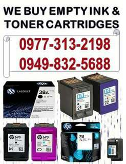 BUYER OF EMPTY INK CARTRIDGES AND TONER