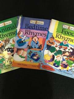 First Verses Rhymes Books