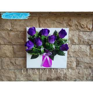 Lukisan Bunga 3D 30X30 Cm (1 Pcs) Charming Beauty Tulip