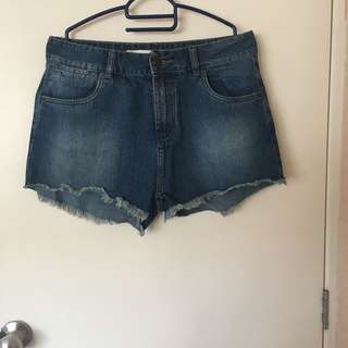 Factorie flyy high waist jean shorts
