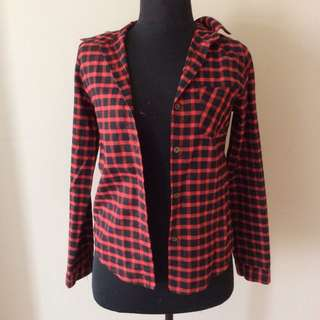 Topshop Plaid Long Sleeves Flannel